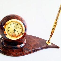 Часы настольные и каминные - Мраморные часы с ручкой, 0