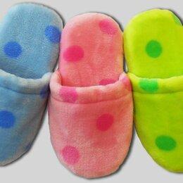 Домашняя обувь - Детские тапочки велсофт на мягкой подошве, 0