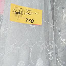 Шторы - Белый тюль с вышивкой на сетке высота 290 см , 0