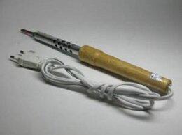 Электрические паяльники - Паяльник 25Вт-220В (г.Псков) деревянная ручка, 0