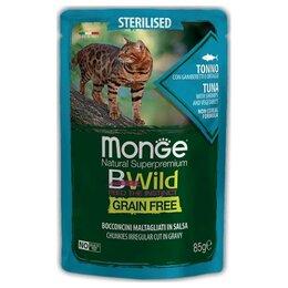 Корма  - Monge BWild Cat Sterilised Tuna Shrimps…, 0
