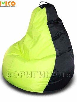 Кресла-мешки - Кресло мешок XL оксфорд чёрно-неоновое (130х90 см), 0