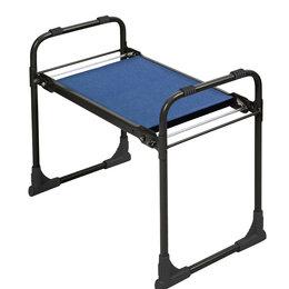 Скамейки - Скамейка садовая с мягким сиденьем - черная, 0