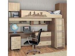 Кроватки - Кровать чердак со столом Орион, 0