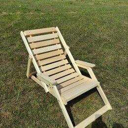 Лежаки и шезлонги - Шезлонг деревянный с подлокотниками, 0