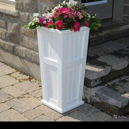 Горшки, подставки для цветов - Ваза деревянная для улицы, 0