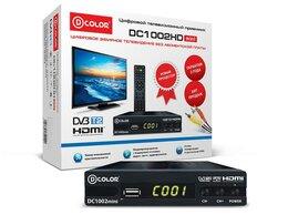 ТВ-приставки и медиаплееры - Цифровой приемник ТВ DVB-T2 D-Color DC1002HD mini, 0