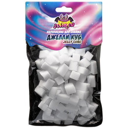 "Игрушки-антистресс - Наполнение для слайма Slimer ""Jelly Cube"", белый, европодвес, 0"