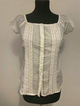 Блузки и кофточки - Женская белая блузка (две штуки), 0