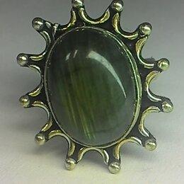 Колье и бусы - Кольцо с лабрадоритом р. 19 серебро 925, 0
