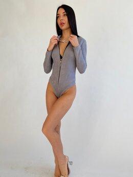 Спортивные костюмы - Спортивный костюм женский-Тройка-Боди+Штаны+Бомбер, 0