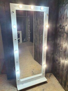 Зеркала - Зеркало в полный рост с подсветкой на колёсах , 0