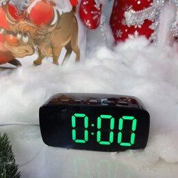 Часы настольные и каминные - Настольные LED Часы с будильником и термометром , 0