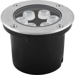 Интерьерная подсветка - Светильник тротуарный, 6LED теплый белый, 6W, 120*H90mm, внутренний диаметр: ..., 0