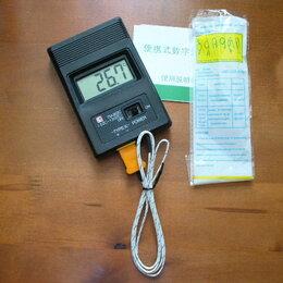 Метеостанции, термометры, барометры - Цифровой термометр с термопарой., 0