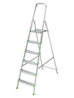 Лестницы и стремянки - Стремянка алюминиевая 6 ступеней Sarayli, 0