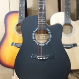 Акустические и классические гитары - Гитара дредноут чёрная матовая, 0