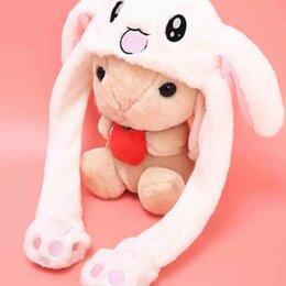 Мягкие игрушки - Плюшевая шапочка с движущимися ушками белая, 0