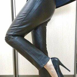 Брюки - Женские  брюки из натуральной кожи, 0