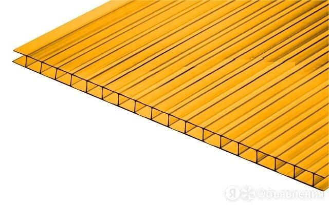 Сотовый поликарбонат CARBOGLASS Кристалл Оранжевый 6 мм (2,1*6 м) по цене 5508₽ - Поликарбонат, фото 0