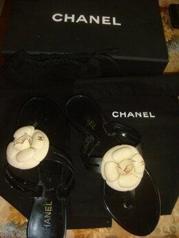 Шлепанцы - Шлепки с камелиями Шанель Chanel р.39, 0
