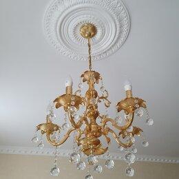 Люстры и потолочные светильники - Люстра потолочная и бра 8 штук , 0