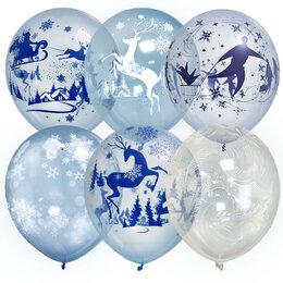 """Воздушные шары - Шары под Потолок """"Кристалл Bubble Зимняя сказка""""…, 0"""