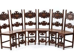 Стулья, табуретки - Набор роскошных резных стульев для круглого стола, 0