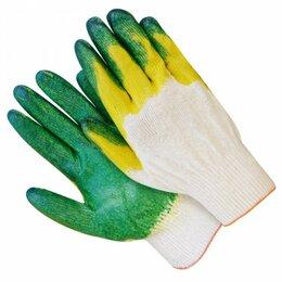 Перчатки - Перчатки ХБ прорезиненные двойной облив, 0