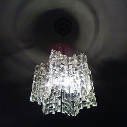 Люстры и потолочные светильники - Стеклянная люстра с 1 лампочкой, 0
