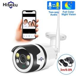 Камеры видеонаблюдения - Камера водозащищенная Hiseeu 1080P IP, Wi-Fi, 0