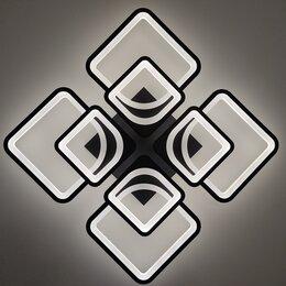 """Люстры и потолочные светильники - Светодиодная люстра """"чёрный квадрат"""" с пультом…, 0"""