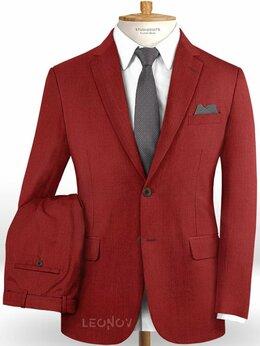 Костюмы - Красный костюм из шерсти – Scabal, 0