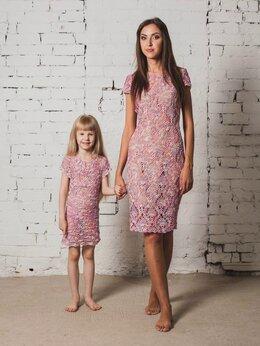 Платья - Платья для мамы и дочки, 0