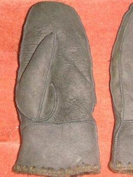 Перчатки и варежки - Варежки дубленка овчина винтаж 1980х годов, 0