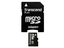 Карты памяти - Флеш карта microSD 2GB Transcend адаптер, 0