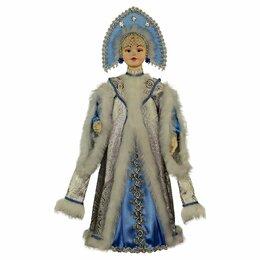 Новогодние фигурки и сувениры - Красивая кукла Снегурочка в пару к Дед Морозу подарок ручной работы, 0