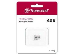 Карты памяти - Флеш карта microSD 4GB Transcend microSDHC Class 1, 0