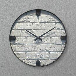 Часы настенные - Часы настенные белые Nicole Time NT101 White Brick, 0