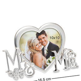 "Фотоальбомы - CHK-112 Фоторамка ""Мистер и Миссис"" (фото 10х10), 0"