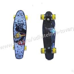 Скейтборды и лонгборды - Круизер Эксплоре со светящимися колесами черный, 0