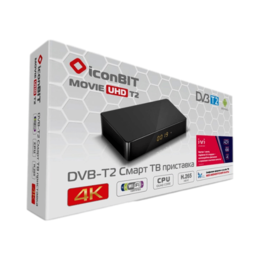 DVD и Blu-ray плееры - Приставка iconBIT Movie UHD T2 DVB-T2, 0