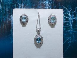 Комплекты - Серьги и подвеска серебро 925 с натуральным…, 0
