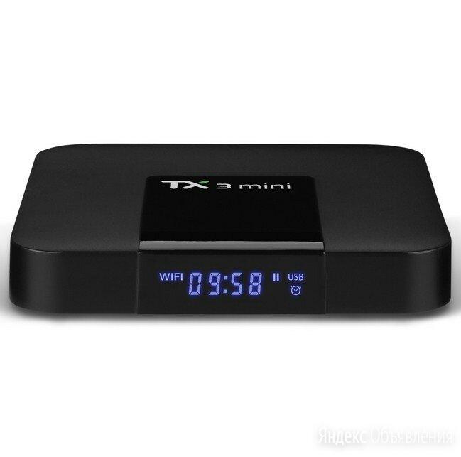 Смарт ТВ приставка Smart TV Box TX3 Mini 4K 1GB/16GB Amlogic S905W по цене 2650₽ - ТВ-приставки и медиаплееры, фото 0