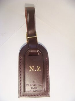 Брелоки и ключницы - Ярлык для багажа Louis Vuitton оригинал коричневый, 0