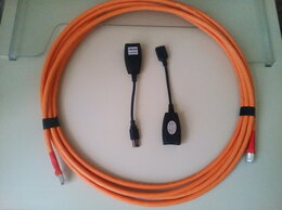 Кабели и разъемы - USB 2.0 Удлинитель 5 м по медной витой паре cat6A, 0