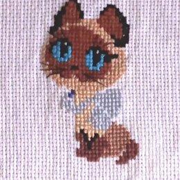 """Рукоделие, поделки и товары для них - """"Котенок по имени Гав"""" - вышивка handmade, 0"""