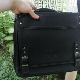Портфели - Портфель-сумка муж, для документов, 40х30х8 см. 6-отделов, 0
