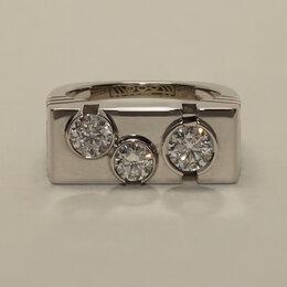 Кольца и перстни - Мужское кольцо (печатка) из платины с бриллиантами, 0
