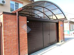 Заборы и ворота - Подъёмные секционные ворота для навеса, 0